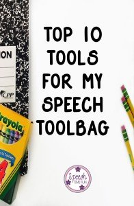 Top 10 Tools for my Speech Toolbag