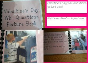 Valentine's Day Wh- Questions Picture Book