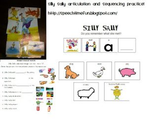 Silly Sally Articulation and Sequencing Activities