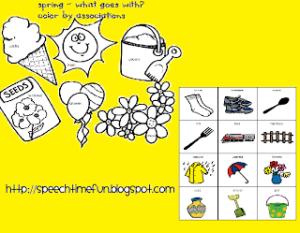 Spring Associations Activities