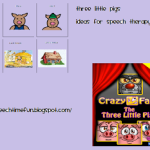 Three Little Pigs Activities for Speech Therapy