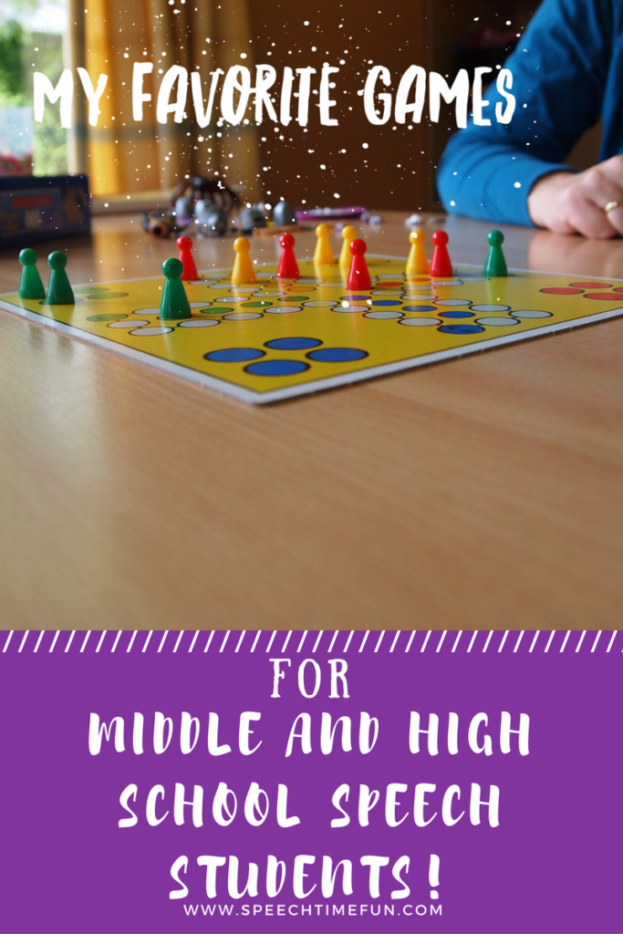 My Favorite Games for Middle and High School Speech Students
