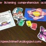 Flower Listening Comprehension Activity