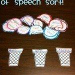 Ice Cream Parts of Speech Sort
