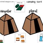 Camping Noun Sort