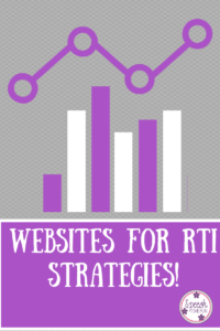 Websites for RTI Strategies! (Speech Time Fun)