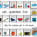 Summer Wh- Question Game Board
