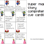 Super Mario Comprehension Cue Cards