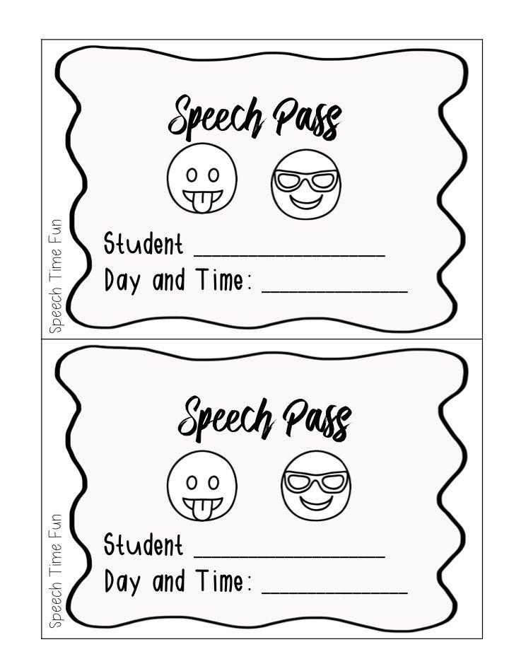 Speech Pass Freebie