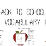Back to School Basic Vocabulary Pack