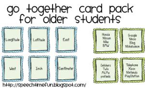 Go Together Card Pack for Older Students!