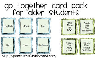 Go Together Card Pack for Older Students!