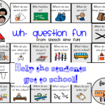 Back to School Wh- Game Board