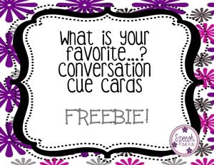 What Is Your Favorite - Social Skills Topic Initiation Freebie