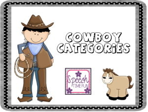 Cowboy Categories- Freebie!