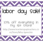 Labor Day Sale!!