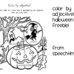 Halloween Color By Adjective- FREEBIE!