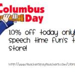 Columbus Day TpT Sale!