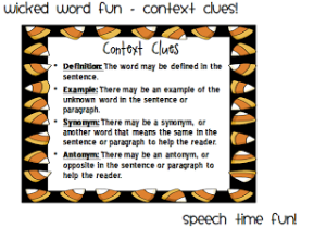 Wicked Word Fun- Context Clues!