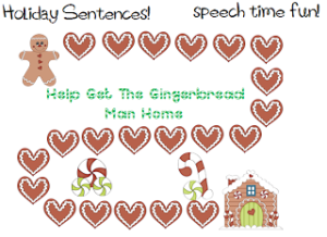 Holiday Sentences!  FREEBIE!