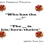 Pilgrim Possessive Pronouns FREEBIE!