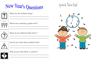 New Year's Picture Comprehension FREEBIE!