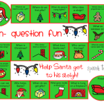 Wh- Question Xmas Board Game Freebie!