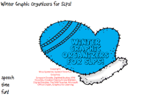 Winter Graphic Organizers for SLPs! (plus freebies!)