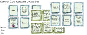Common Core Vocabulary Pack: Grades 5-8!