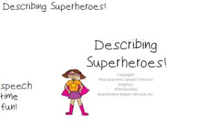 Describing Superheroes!