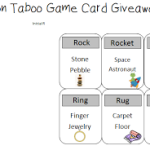 Articulation Taboo Game Cards Giveaway!!