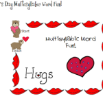 Valentine's Day Multisyllabic Words Fun!