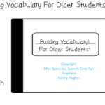 Building Vocabulary For Older Students!