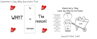 Valentine's Day Why Questions Fun!  FREEBIE!
