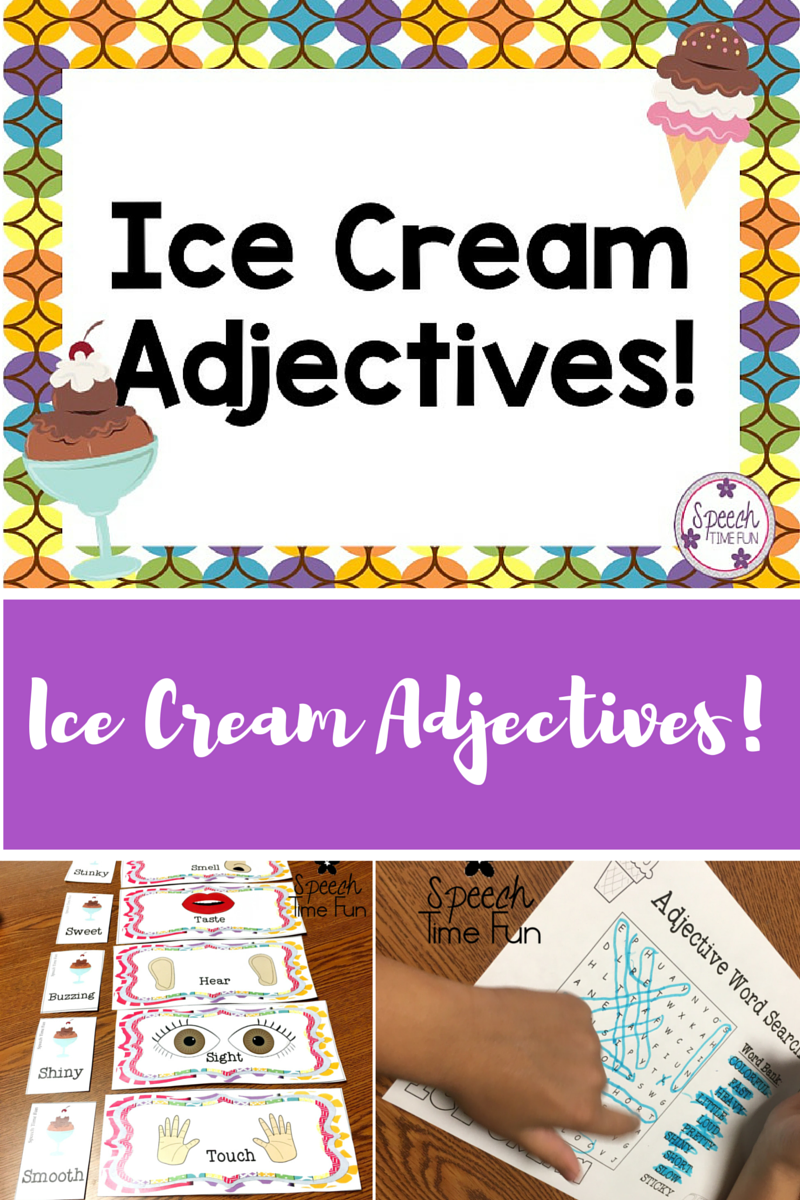 ice cream adjectives and giveaway