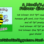 Speechie Freebies 1 Month/1,000 Follower Giveaway!!