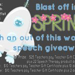 Blast Off into Spring with an 'Out of this World' Speech Giveaway!