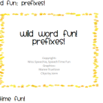 Wild Word Fun: Prefixes!
