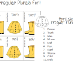 April Showers Irregular Plurals Fun! FREEBIE (and a sale)!