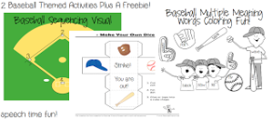 2 Baseball Themed Activities (PLUS A FREEBIE!!)): Sequencing, Answering Questions, & Multiple Meaning Words!