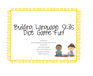 Building Language Skills: Dice Game Fun!