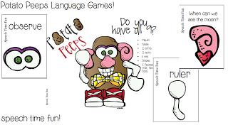 Potato Peeps Language Games!!  5-in-1!! ((plus a giveaway!))
