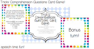 Tricky Comprehension Questions Card Game!