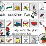 Wh Question Board Game: SPRING ((Freebie))