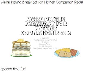 We're Making Breakfast For Mother Companion Pack!