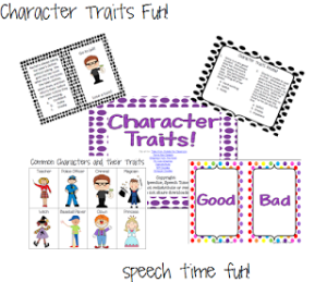 Character Traits Fun!