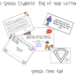 Superhero Speech Students!  Student End of Year Letters! ((and giveaway!!))