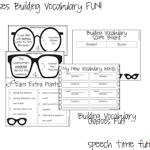 Glasses Building Vocabulary FUN!