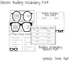 Glasses Building Vocabulary FUN!