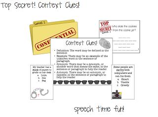 Top Secret!  Context Clues Fun! ((and giveaway!!))